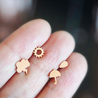 'The Weather' Mix&Match Stud Earring - Polished Finish