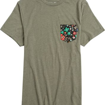 VANS PSYCH FLORAL SS POCKET TEE