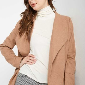 Front Page Wool Blend Trench Coat