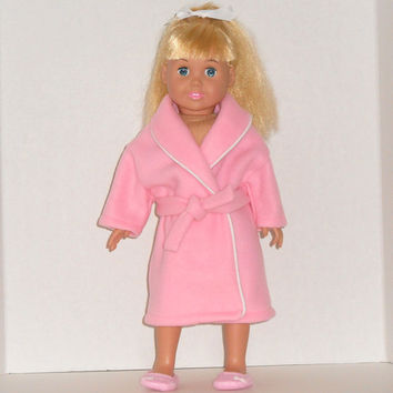 American Girl Doll Clothes Robe Pink Fleece fits18 inch Dolls