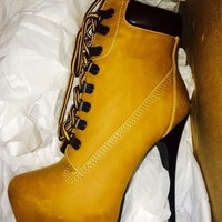 timberland booties/ pumps size 7 new