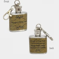 Stainless Steel Hip Flask  - Draught of Living Death - Harry Potter potions 4oz 6oz 2oz