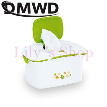 DMWD Baby wipes heater thermostat Warm Wet Towel Dispenser Tissue Paper Case Heat Thermal humidor Napkin heating box EU US plug