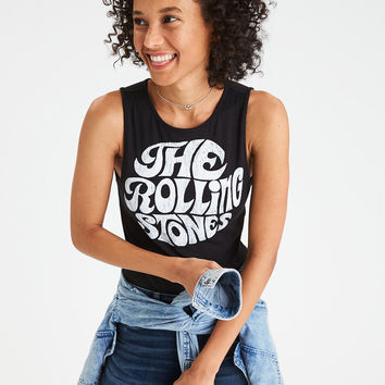 AE Rolling Stones High Neck Bodysuit, Black