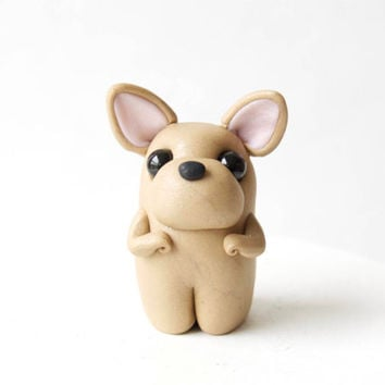 Miniature French Bulldog Figurine - Mini Frenchie by Bonjour Poupette