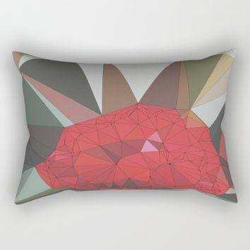 Ruby Red Rose Rectangular Pillow by Ducky B