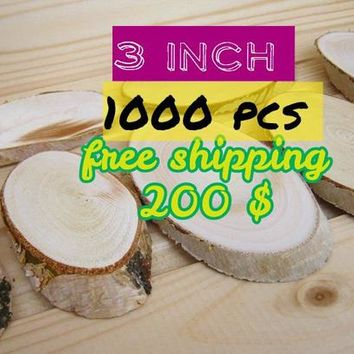 """1000 pcs 3-3.5"""" (8-9 cm)tree dry slices,  wood slices, Various blank slices, Floristry supply,  Rustic Wood Circles, Branch Slices"""