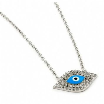 Jonelle's Light Blue Evil Eye Necklace