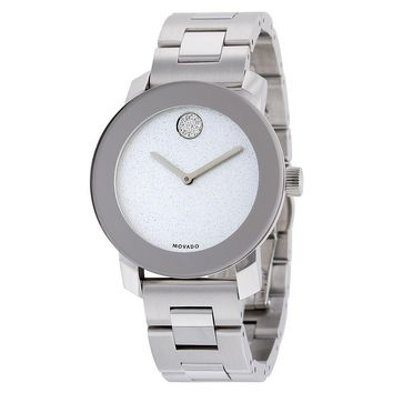 Movado Bold Silver Dial Stainless Steel Mens Watch 3600334