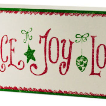 christmas theme wood block sign Case of 6