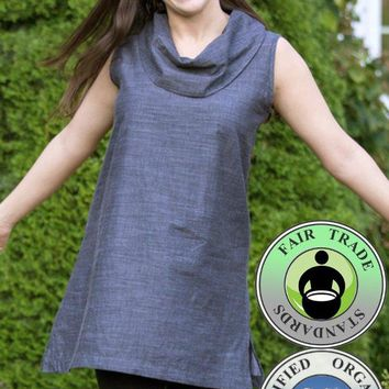Organic Cotton Chambray Tunic / Dress