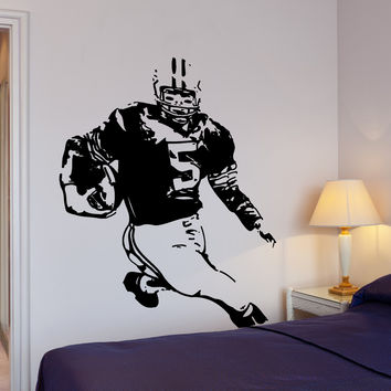 Wall Decal Football Player Quarterback Super Bowl Sport Decor Unique Gift z4001