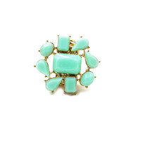 Mint Flower Ring
