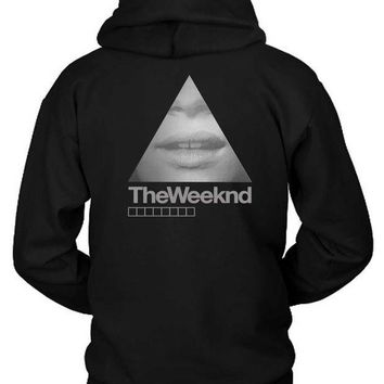 ESBH9S The Weeknd Girl Triangle Hoodie Two Sided