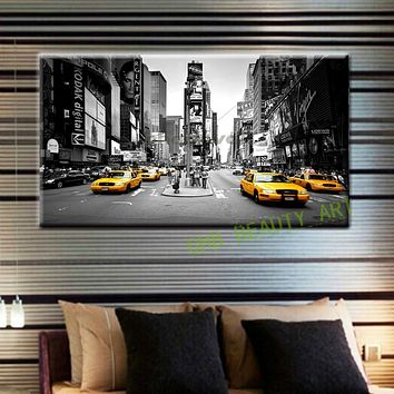 2017 Canvas Painting New York Taxi Street Modern Wall Pictures For Living Room Printed Home Decoration Art (No Frame)