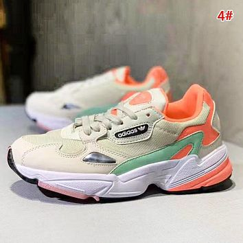 Adidas Falcon W New fashion mesh contrast color shoes women 4#