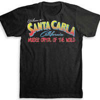The Lost Boys - Santa Carla (Vampire T Shirt) - Tri-Blend Vintage Fashion - Graphic Tees for Men & Women