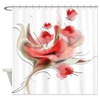 Abstract Coral Flowers Shower Curtain> Decorator Shower Curtains> MORE PRODUCTS-CLICK HERE-GetYerGoat.com