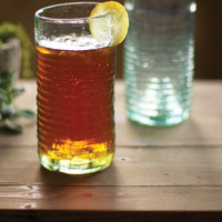 Tall Recycled Tea Glass