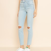 Infinity Blue Ankle Retro High Waist Jegging