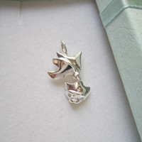 Sterling Silver Fish Charms with cubic zirconia. Fish charm necklace. Silver Fish charm. 925 Fish pendant.