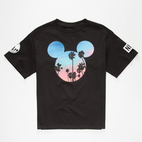 Neff Disney Collection Palms Mickey Boys T-Shirt Black  In Sizes