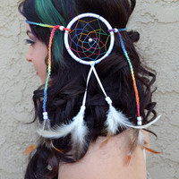 Extravagant Rainbow Dreamcatcher Headband #A1007
