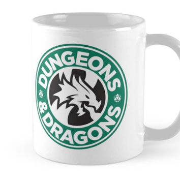 'Dungeons & Dragons Starbucks Parody Mashup' Mug by Carl Huber