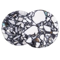 Mosaic White Compressed Stone Plugs (3mm-22mm)