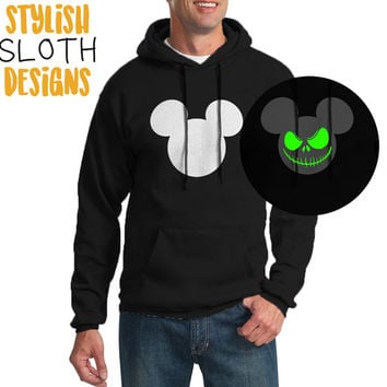 Glow in the dark Nightmare before christmas Jack Skellington micky mouse Pullover Hoodie Women Men Children Hoodie