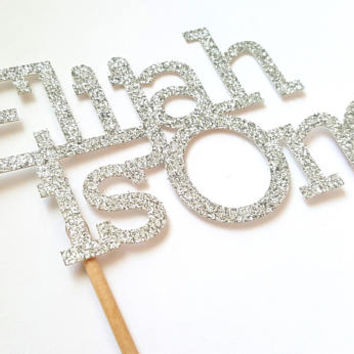Custom Birthday Cake Topper, glitter cake decor, birthday number, cupcakes, party favors, baby boy girl, dessert table, first one, name, eid
