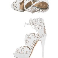 Belinda suede cut out sandals | Charlotte Olympia | MATCHESFAS...