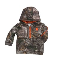 Infant/Toddler Camo Half Zip sweatshirt