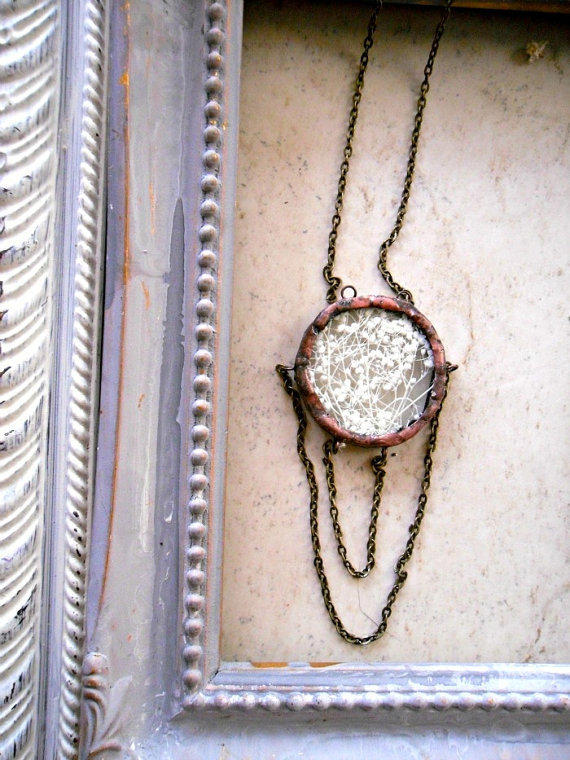 Baby's Breath Draped Chain Necklace
