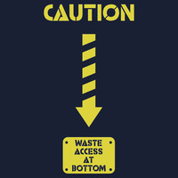 Caution -- Waste Access Panel (Baby Onesuit) by Samuel Sheats