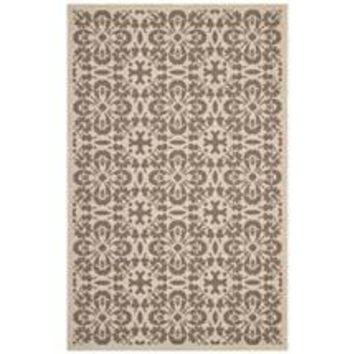 ARIANA VINTAGE FLORAL TRELLIS 8X10 INDOOR AND OUTDOOR AREA RUG
