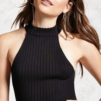 Semi-Cropped Ribbed Top