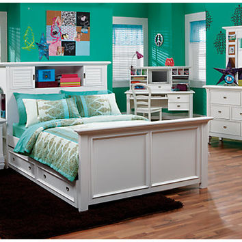 Belmar White 6 Pc Full Bookcase Bedroom - Bedroom Sets Colors
