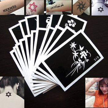 5pcs Mix Tattoo Stencils Sticker Top Up Ur Glitter Tattoo's Airbrush Kits For Boys & Girls