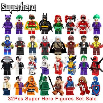 Star Wars Force Episode 1 2 3 4 5 32Pcs/Set Super Heroes  Building Blocks Sets Avengers Deadpool Flash Panther Model Brick Kids Hobbies Toys Legoinglys AT_72_6