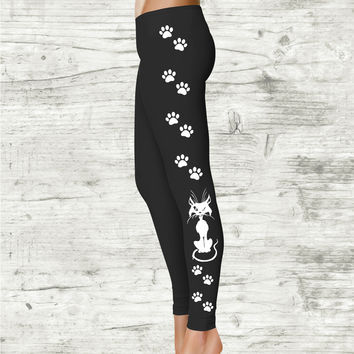 Cat Lady Leggings, Crazy Cat Lady Leggings - Leggings for Women