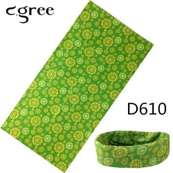 C.gree 3D Printed Magic Bandanas 100% Polyester Scarves Skull Motorcycle Bike Hiking Bandanas Brand Scarf Woman Wrap