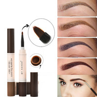 5 Colors Eyebrow Waterproof Eyes Makeup Brows Gel Gray Brown Henna Tattoo Long Lasting  Eyebrow Dye Gel Brush Kit maquillaje