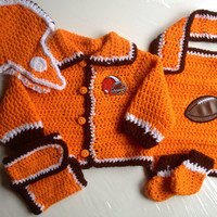 Cleveland Browns Baby Crochet Gift Set