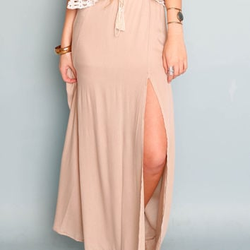 Sage Sundown Maxi Skirt
