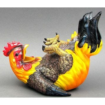 Happy Feet Rooster Wine Holder