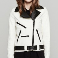 A.L.C. Theo Jacket In White And Black