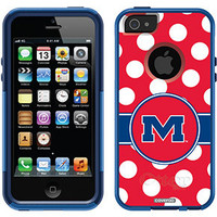 """Univ of Mississippi - Polka Dots"" Mississippi design on OtterBox® Commuter Series® Case for iPhone 5 in Nightsky"