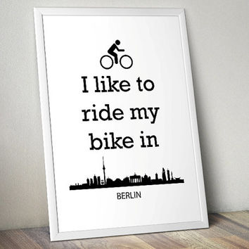 Biking in Berlin - lifestyle - Printable Poster - Digital Art - Download and Print