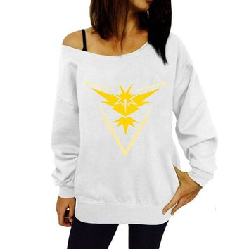 Off the Shoulder Team Instinct Sweater - Pokémon